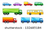 set of cars  trucks and buses | Shutterstock .eps vector #132685184