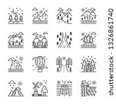 nature landforms icons pack | Shutterstock .eps vector #1326861740