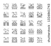 nature landscapes icons pack | Shutterstock .eps vector #1326861743