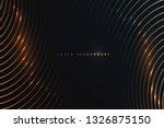 gold lines on black background | Shutterstock .eps vector #1326875150