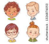 set with boy's faces. userpics... | Shutterstock .eps vector #1326876053