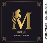 Capital Letter M With A Horse....