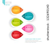 five colored elements for... | Shutterstock .eps vector #132690140