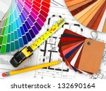 interior design. architectural... | Shutterstock . vector #132690164