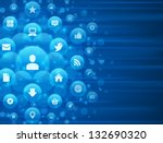 social media icons and light... | Shutterstock .eps vector #132690320