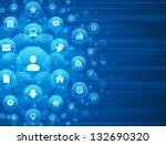 social media icons and light... | Shutterstock .eps vector #132690320