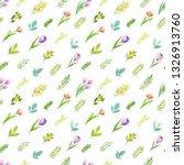 flower pattern  watercolor  ... | Shutterstock . vector #1326913760