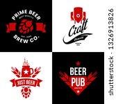 modern craft beer drink... | Shutterstock .eps vector #1326913826