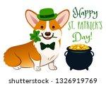 cute welsh corgi dog in st....