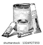 rubber cement is an adhesive... | Shutterstock .eps vector #1326927353