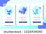 on boarding mobile app comments ... | Shutterstock .eps vector #1326934040