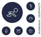 set of 6 people icons line... | Shutterstock . vector #1326944279