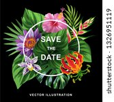 tropical hawaiian wedding... | Shutterstock .eps vector #1326951119