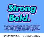 charming strong bold font...   Shutterstock .eps vector #1326983039