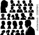 a set of men   women faces as... | Shutterstock .eps vector #13269841