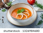 tomato soup with squid | Shutterstock . vector #1326984680