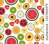 vector pattern of flat seasonal ... | Shutterstock .eps vector #1327005479