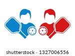 pickleball match illustration | Shutterstock .eps vector #1327006556