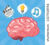 brain idea creativity | Shutterstock .eps vector #1327018556