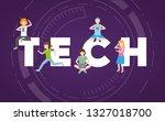 people tech device   Shutterstock .eps vector #1327018700