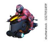 3d cg rendering of hoverbike | Shutterstock . vector #1327051859