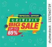 ramadan big sale interface... | Shutterstock .eps vector #1327060739