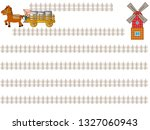 the title frame of the ranch...   Shutterstock .eps vector #1327060943