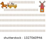 the title frame of the ranch...   Shutterstock .eps vector #1327060946