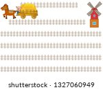 the title frame of the ranch...   Shutterstock .eps vector #1327060949