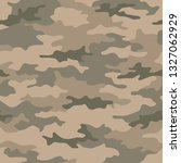 seamless camouflage pattern....   Shutterstock .eps vector #1327062929