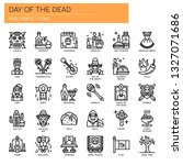 day of the dead   thin line and ... | Shutterstock .eps vector #1327071686