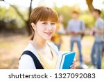 portrait of  asian college...   Shutterstock . vector #1327092083