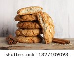 stack of whole and broken... | Shutterstock . vector #1327109093