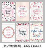 set of mothers day greeting... | Shutterstock .eps vector #1327116686