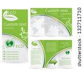 vector brochure layout design... | Shutterstock .eps vector #132711710