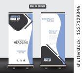 roll up business brochure flyer ... | Shutterstock .eps vector #1327129346