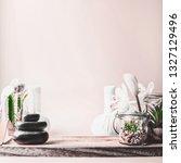 feminine spa setting background ... | Shutterstock . vector #1327129496