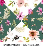 seamless floral pattern with... | Shutterstock .eps vector #1327131686