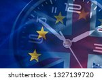 composite of the eu and british ... | Shutterstock . vector #1327139720