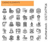 casino elements   thin line and ... | Shutterstock .eps vector #1327147916