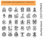 lifeguard and emergency service ... | Shutterstock .eps vector #1327159043