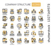 company structure   thin line... | Shutterstock .eps vector #1327169573