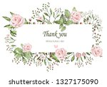 floral frame with leaves.... | Shutterstock . vector #1327175090