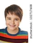 portrait of happy joyful... | Shutterstock . vector #132717608