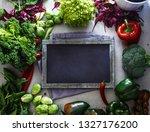 fresh vegetables flatlay... | Shutterstock . vector #1327176200
