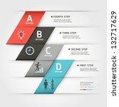 modern business steb origami... | Shutterstock .eps vector #132717629