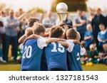 boys champion sport team. kids... | Shutterstock . vector #1327181543