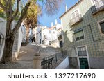 lisbon  alfama portugal... | Shutterstock . vector #1327217690