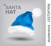 blue santa hat vector. snow...   Shutterstock .eps vector #1327247456