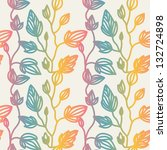 flower vector pattern | Shutterstock .eps vector #132724898
